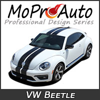 MoProAuto Pro Design Series Vinyl Graphic Decal Stripe Kits for 1998-2018 Volkswagen Beetle