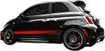 Fiat 500 Vinyl Stripes Decals