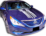 Hyundai Sonata Ford Fiesta Vinyl Stripes Decals