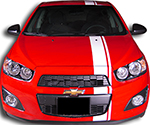 Chevy Sonic Vinyl Stripes Decals
