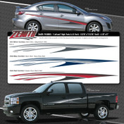 ZENITH : Automotive Vinyl Graphics Shown on Chevy Silverado (M-08855)