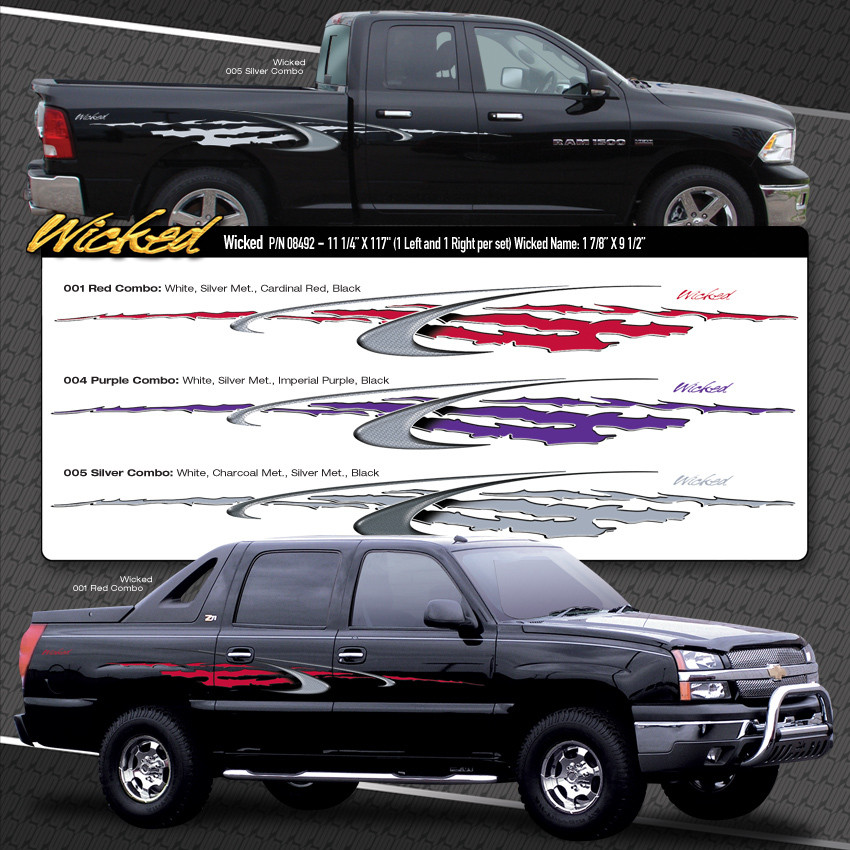 WICKED : Automotive Vinyl Graphics Shown on Dodge Ram - MoProAuto ...