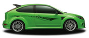 VISION : Automotive Vinyl Graphics and Decals Kit - Shown on TWO DOOR HATCHBACK (M-850)