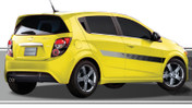 TALLADEGA : Automotive Vinyl Graphics and Decals Kit - Shown on FOUR DOOR HATCHBACK (M-878)