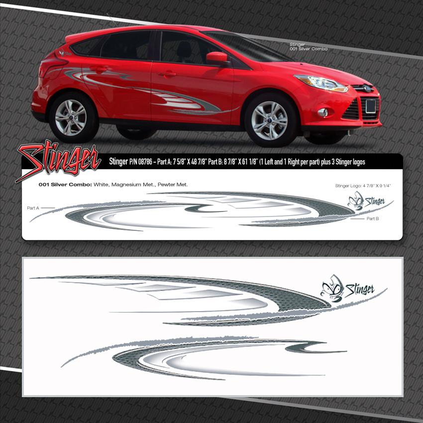 Stinger Automotive Vinyl Graphics Shown On Ford Focus