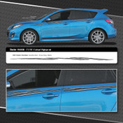 SHOCKER : Automotive Vinyl Graphics Shown on Compact Hatchback Car (M-08100)