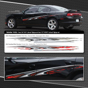 QUICKSILVER : Automotive Vinyl Graphics Shown on Dodge Charger and Chevy Truck (M-09242)