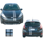 "RALLY ROLL : Universal Euro Style Vinyl Racing Stripes Roll - The perfect vinyl racing ""Euro"" Style stripes kit for todays sub-compact cars and SUV's. For the Ford Fiesta, Kia Soul, and many more applications! Only limited by your imagination!"