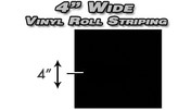 """Professional Solid Striping Vinyl Roll Tape : 4"""" x 150ft  Pro Grade Solid Color Vinyl Pin Striping Rolls Made Exclusively for the Automotive Market!"""