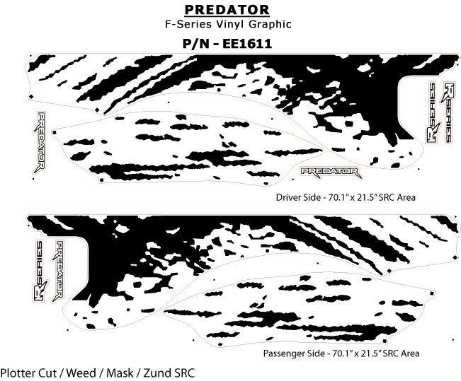 "2013 F150 For Sale >> PREDATOR : 2009 2010 2011 2012 2013 2014 Ford F-Series ""Raptor"" Style Mudslinger Vinyl Graphics ..."