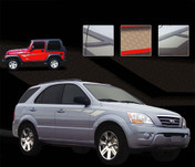 OCTANE : Universal Style Vinyl Graphics Kit - Universal Style Vinyl Graphics and Decals Kit, perfect for JEEP and KIA Styles! OCTANE has a strong sweeping design that offers vehicle versatility!