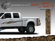 Oak Breeze Wild Wood Camouflage : Bed Side Rally with Logo 12 inches x 42 inches