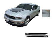 "Mustang DOMINATOR (GT Hood Spears Only) : 2010-2012 Ford Mustang Graphics Kit - Vinyl Graphics Kits for the 2010-2012 Ford Mustang! Give a modern muscle car look to your new Mustang that will set your ride apart! Left and Right ""GT"" Hood Spears Included!"