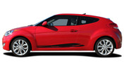 MENTUM : Vinyl Graphics Kit Engineered to fit the 2011 2012 2013 2014 2015 2016 2017 2018   Hyundai Veloster - Vinyl Graphics Kit specially engineered to fit Hyundai Veloster! Fantastic body line application that will set your Hyundai Veloster apart from the rest!