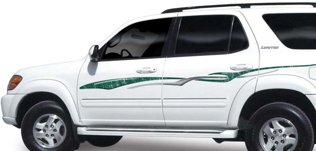 Highlander Vinyl Graphics Decals Stripes Kit Universal