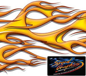 DUELING SIDE FLAMES : High Definition Automotive Vinyl Graphics (M-DSF20MD)