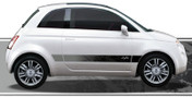 DRIFTER : Automotive Vinyl Graphics and Decals Kit - Shown on FIAT 500 (M-876)