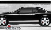 Dodge Challenger : Solid Rocker Panel Stripes fits 2008-2013 Models (SVS313D)