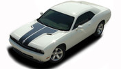 "Challenger HOOD : Factory OEM Style Vinyl Racing Stripes for 2008 2009 2010 2011 2012 2013 2014 Dodge Challenger  Factory ""OEM Style"" Split Racing Hood Stripes, Graphics, and Decal Set for the New 2008-2014 Dodge Challenger! Pre-cut pieces ready to install . . . A fantastic addition, using only Premium Cast 3M, Avery, or Ritrama Vinyl!"