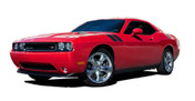 "Challenger DOUBLE BAR : Hood Hash Style Vinyl Graphics Kit for 2008 2009 2010 2011 2012 2013 2014 2015 2016 2017 2018 2019 Dodge Challenger  * New! * Dodge Challenger DOUBLE BAR ""Mopar Style"" Hash Style Vinyl Graphics, Decal and Stripe Package for the Dodge Challenger! Pre-cut pieces ready to install . . . A fantastic addition, using only Premium Cast 3M, Avery, or Ritrama Vinyl!"