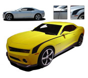 """Camaro THROWBACK : 2010 2011 2012 2013 Chevy Camaro """"Hockey Stick"""" OEM Style Vinyl Graphics Kit - 2010-2013 Chevy Camaro Graphics Kit! Engineered specifically for the new Camaro, this kit is a fantastic way to upgrade the new Camaro for a retro muscle car """"hockey stick"""" look! Pre-cut pieces ready to install!"""