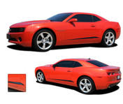 Camaro ROCKER SPIKES : 2010 2011 2012 2013 Chevy Camaro Lower Rocker Vinyl Graphic Stripes - * NEW * 2010-2013 Chevy Camaro ROCKER SPIKES - Lower Rocker Style Graphics Kit! Engineered specifically for the new Camaro, this kit will give you fantastic look at a discount price when compared to factory kits! Driver and Passenger Sides Included! Pre-Cut pieces ready to install!