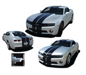 """Camaro PACE RALLY : 2010 2011 2012 2013 Chevy Camaro """"Indy Style"""" Racing Stripes Kit! 2010-2013 Chevy Camaro PACE RALLY Racing Stripes Vinyl Graphics Kit! Engineered specifically for the new Camaro, this kit will give you the complete """"Indy Style"""" racing stripe look you have wanted! Hood, Roof, Deck Lid, Front and Back Bumpers included! This is a professionally designed kit, with pre-cut pieces ready to install!"""