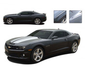 Camaro JAVELIN : 2010 2011 2012 2013 Chevy Camaro Striping Kit - 2010-2013 Chevy Camaro JAVELIN Striping Kit! Engineered specifically for the new Camaro, this kit will gives you a great body line stripe, an easy way to compliment other graphics on the car, or to use all by itself! An upgraded look at a discount price! Pre-Cut pieces ready to install!