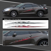BREAKAWAY : Automotive Vinyl Graphics Mitsubishi Eclipse Compact Sports Cars (M-09230)