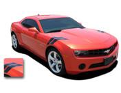 "Camaro DOUBLE BAR : 2010 2011 2012 2013 Chevy Camaro ""LeMans"" Stripes Fender Hash Decals"