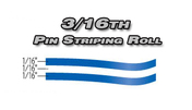3/16th x 150ft Professional Vinyl Pinstriping Roll  Pro Grade Vinyl Pin Striping Rolls Made Exclusively for the Automotive Market!