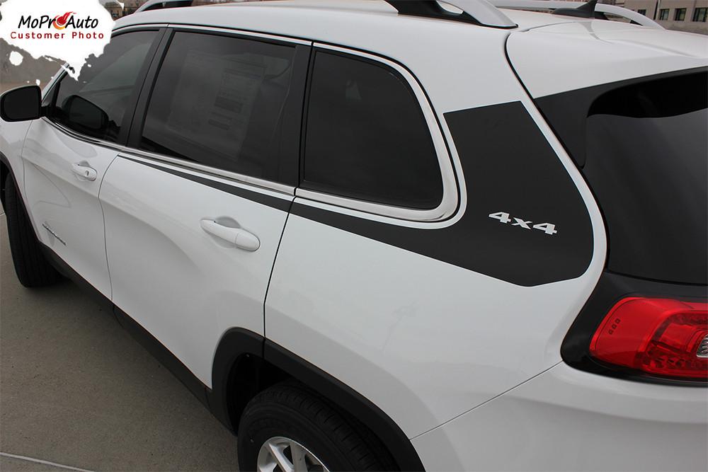 WARRIOR : Jeep Cherokee Upper Body Line Stripes Vinyl ...