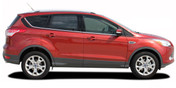 Ford Escape RUNAROUND Vinyl Graphics Kit! Engineered specifically for the new 2013 2014 2015 2016 2017 2018 Ford Escape, this kit will give you a factory OEM upgrade look at a discount price! Pre-trimmed sections ready to install! Fits Ford Escape Body Lines . . .