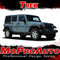 TREK : Jeep Wrangler Side Door Fender to Fender Vinyl Graphics Decal Stripe Kit - Product Ad