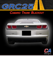 2010-2013 Camaro Trunk Blackout Stripes : Vinyl Graphics Kit (M-GRC25a)