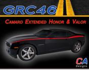 2010-2015 Chevy Camaro Extended Honor and Valor Vinyl Stripe Kit (M-GRC46)