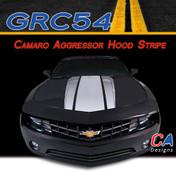 2014-2015 Chevy Camaro Aggressor Hood Vinyl Stripe Kit (M-GRC54)