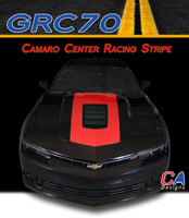 2014-2015 Chevy Camaro Center Racing Vinyl Stripe Kit (M-GRC70)