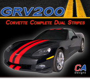 2005-2013 Chevy Corvette Complete Dual Rally Racing Vinyl Stripe Kit (GRV200)