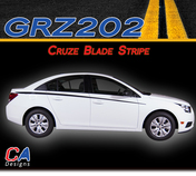 2011-2015 Chevy Blade Racing Vinyl Stripe Kit (M-GRZ202)