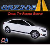 2011-2015 Chevy Cruze Tri-Rocker Vinyl Stripe Kit (M-GRZ205)