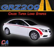 2011-2015 Chevy Cruze Taper Long Vinyl Stripe Kit (M-GRZ209)
