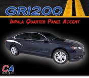 2014-2015 Chevy Impala Quarter Panel Accent Vinyl Graphic Decal Stripe Kit (M-GRI200)