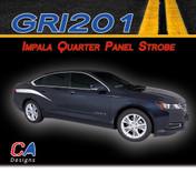 2014-2015 Chevy Impala Quarter Panel Strobe Accent Vinyl Graphic Decal Stripe Kit (M-GRI201)