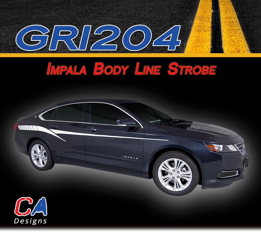Impala 2009 chevy impala body kit : 2014-2015 Chevy Impala Body Line Strobe Accent Vinyl Graphic Decal ...