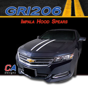 2014-2015 Chevy Impala Hood Spears Vinyl Graphic Decal Stripe Kit (M-GRI206)