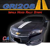 2014-2015 Chevy Impala Hood Rally Vinyl Graphic Decal Stripe Kit (M-GRI208)