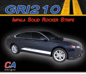 2014-2015 Chevy Impala Solid Rocker Vinyl Graphic Decal Stripe Kit (M-GRI210)