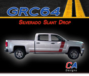 2014-2015 Chevy Silverado Slant Drop Vinyl Graphic Decal Stripe Kit (M-GRC64)