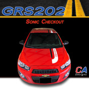 2012-2015 Chevy Sonic Checkout Dual Color Vinyl Stripe Kit (GRS202)